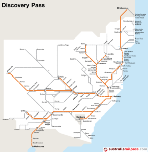 Nsw Map Australia.Discoverypass Map Nsw Explore Australia By Rail With An Australian